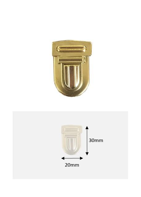Fermoirs cartable or GM (30x20mm)
