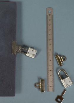 Fermoir secret 2 pièces argent + cadenas (avec clé)