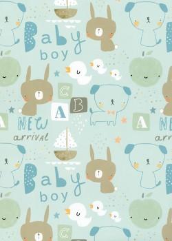 Baby bleu (50x70)