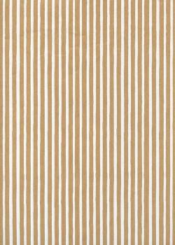 Rayures blanches sur fond kraft brun (68,5x98)