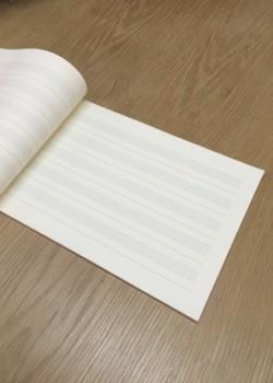 Cahier de musique 17x24cm (40 pages)