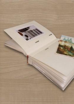 Album photo blanc 13x15,5cm (40 pages) avec pochette translucide