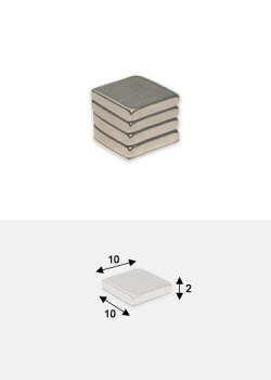 Aimants plat 10x10mm épaisseur 2mm