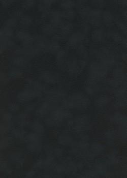 Simili cuir velours Zeste noir intense (70x100)