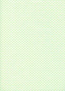 Mini chevron vert fond blanc (50x65)