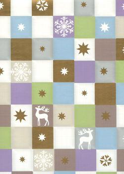 NOEL PASTEL carrés ambiance hiver (70x100)