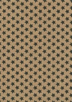"""""""Kraft fantaisie"""" Les étoiles noires fond kraft (70x100)"""