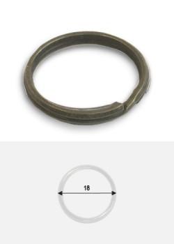 Anneaux spirales brisés bronze (Ø18)