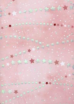 Pluie d'étoiles réhaussée argent (68x98)
