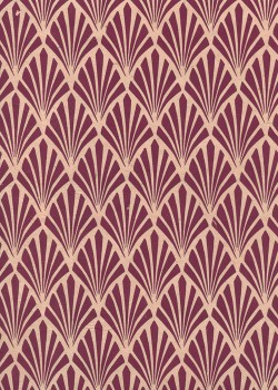 Lokta art nouveau bordeaux fond rose fané (50x75)