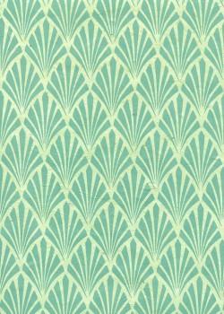 Lokta art nouveau menthe (50x75)