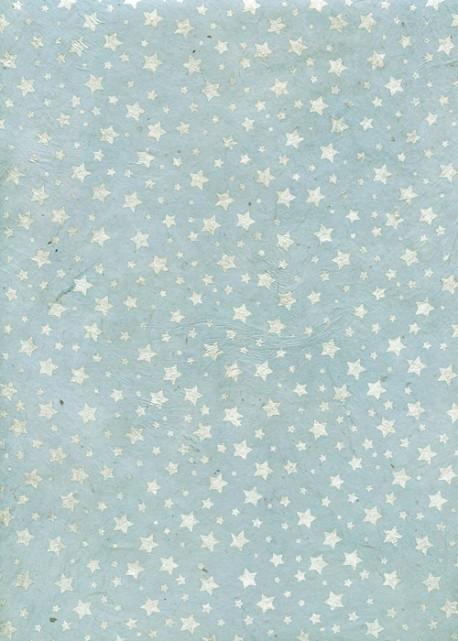Lokta Les étoiles Argentées Fond Bleu Ciel 50x75