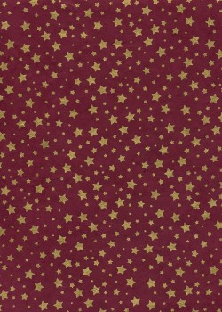 Lokta les étoiles or fond bordeaux (50x75)