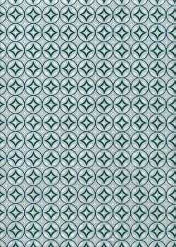 Lokta mosaique bleue réhaussée argent (50x75)