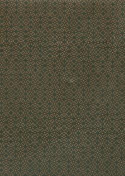 Lokta les rosaces or fond vert foret (50x75)