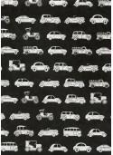 Lokta les voitures ton argent fond noir (50x75)