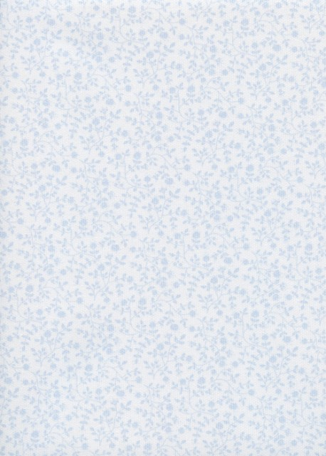 Floral bleu pastel (48x100)
