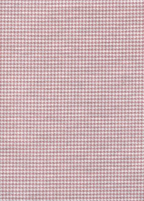 """""""Toile enduite"""" Pied de poule rose (48x100)"""