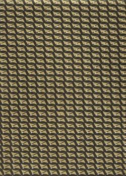 Lokta géométrique or pois blanc fond noir (50x75)
