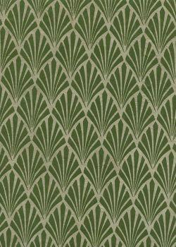 Lokta art nouveau vert olive (50x75)