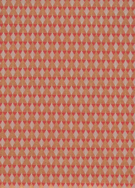 Art déco rouge et or (50x70)