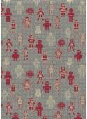 Les petits robots ambiance rouge (50x70)