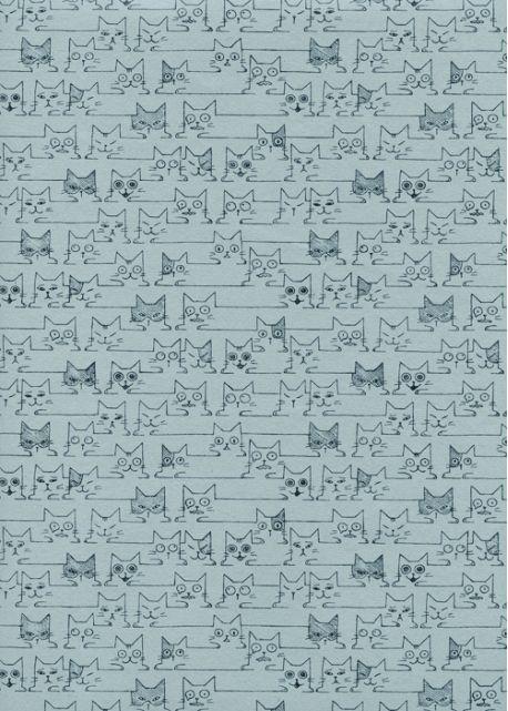 Les matous fond gris bleu (50x70)