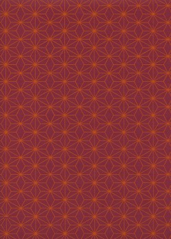 Diams orange fond rouge (50x70)