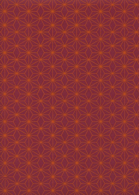 Diams orange fond rouge (50x70)