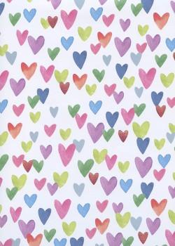 Les coeurs multicolores et métallisés rose (48x68)