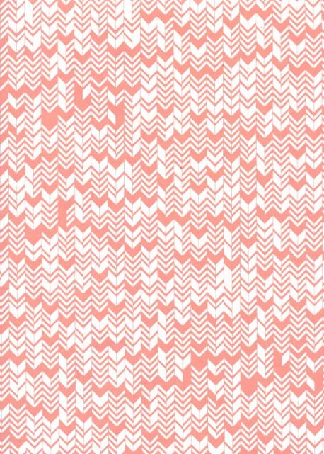 Inca corail et blanc (50x70)
