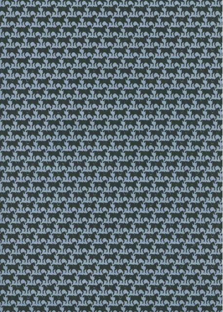 Les petits chevaux fond bleu pompadour (50x70)