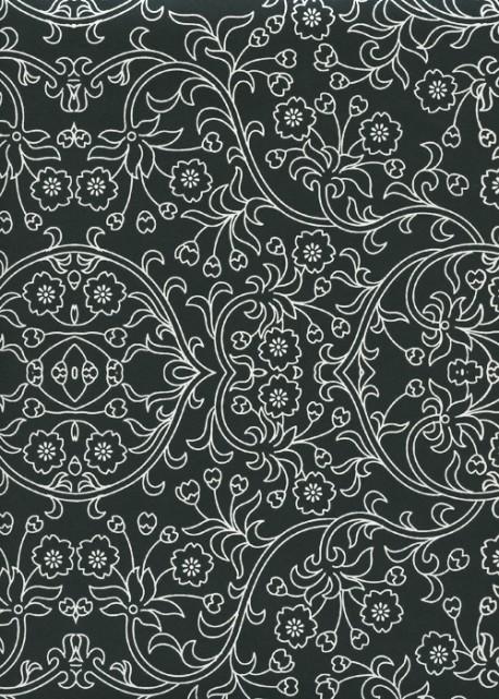 Damasco noir et argent (70x100)