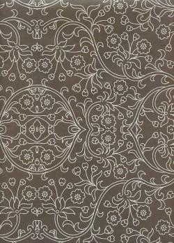 Damasco brun et argent (70x100)