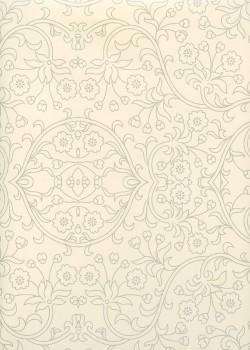 Damasco ivoire et argent (70x100)
