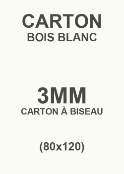 Carton bois blanc 3mm (80x120)