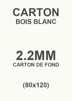 Carton bois blanc 2.2mm (80x120)