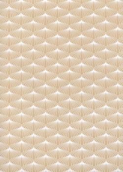 Ombrelle beige et blanc (50x70)