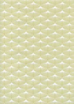 Ombrelle vert et blanc (50x70)