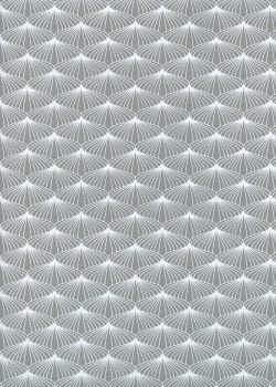 Ombrelle gris et blanc (50x70)