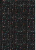 Atome fond noir (50x70)