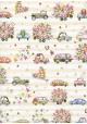 Papier Turnowsky les voitures fleuries (50x70)