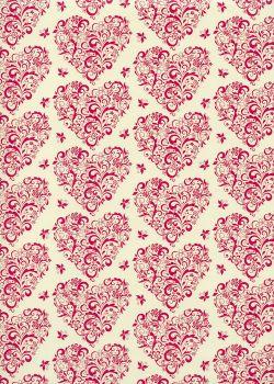Les lignes de coeurs roses (70x100)