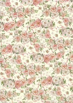 Petites roses aux rubans (70x100)