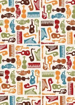 Instruments de musique colorés (70x100)*
