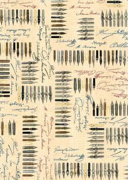 Ecriture et collection de plumes (70x100)