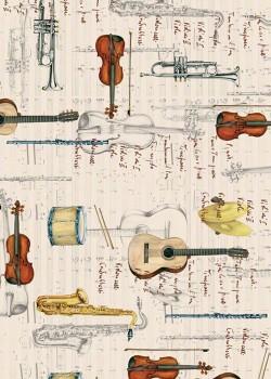 Instruments de musique et écriture (70x100)