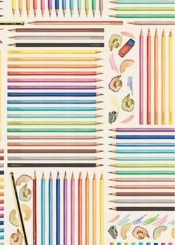 Les crayons de couleur (70x100)