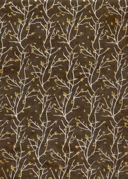 Lokta les feuilles de broussailles fond marron (50x75)