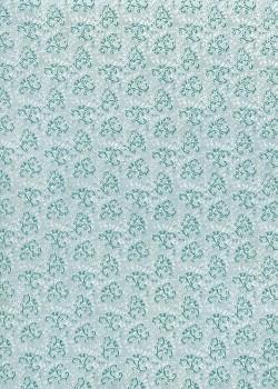 Lokta les arabesques ton bleu (50x75)